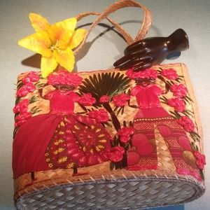 Vintage woven tote
